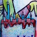 Un petit dessin pour BiSeol à l'occasion de son anniversaire! Je le confesse: je suis bien plus douée pour manger des gâteaux que pour les dessiner...