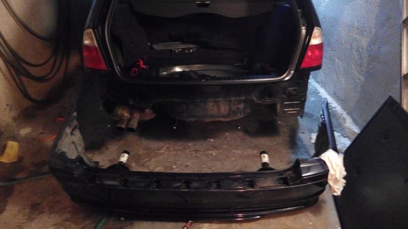 e46 sport bumper removal