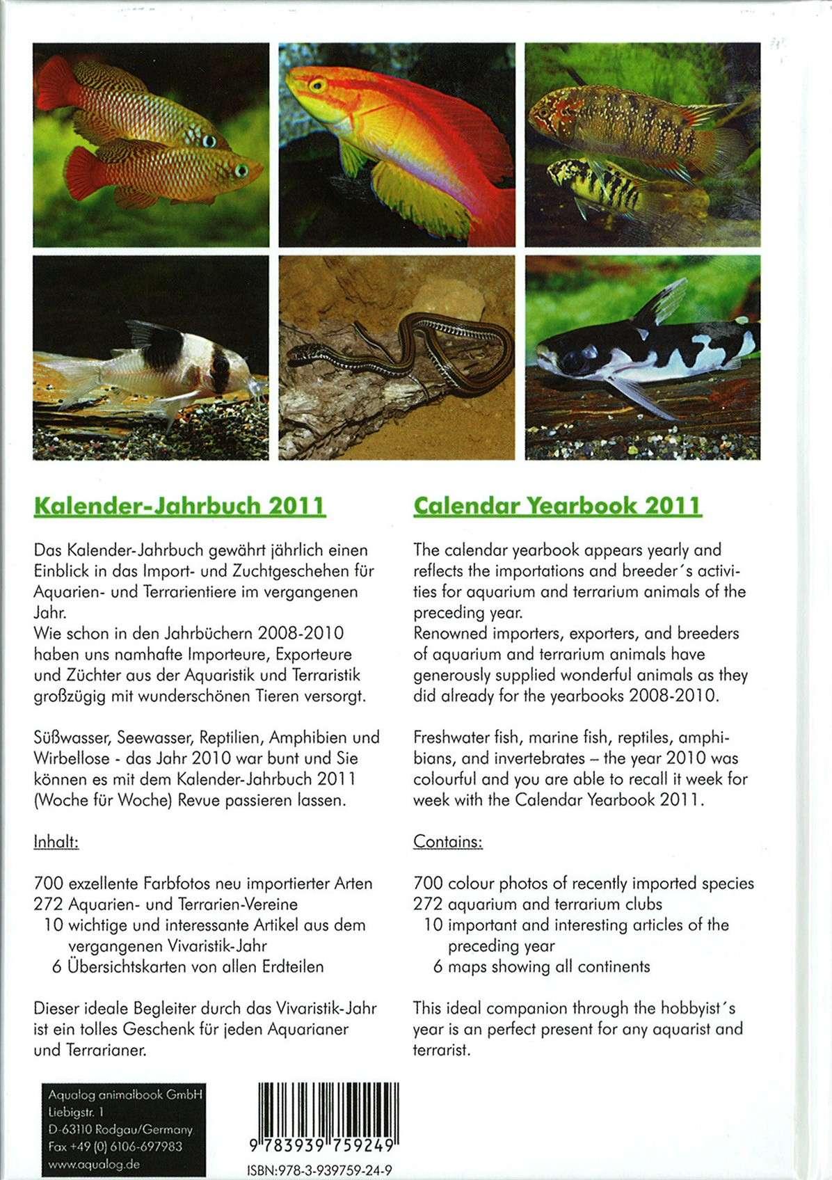 Agenda Aqualog 2011 - Verso