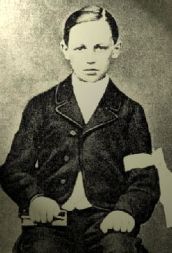 Arthur Rimbaud à 11 ans - Photo de la communion