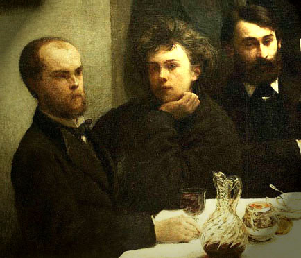 Verlaine & Rimbaud - Tableau de Fantin-Latour - fragment