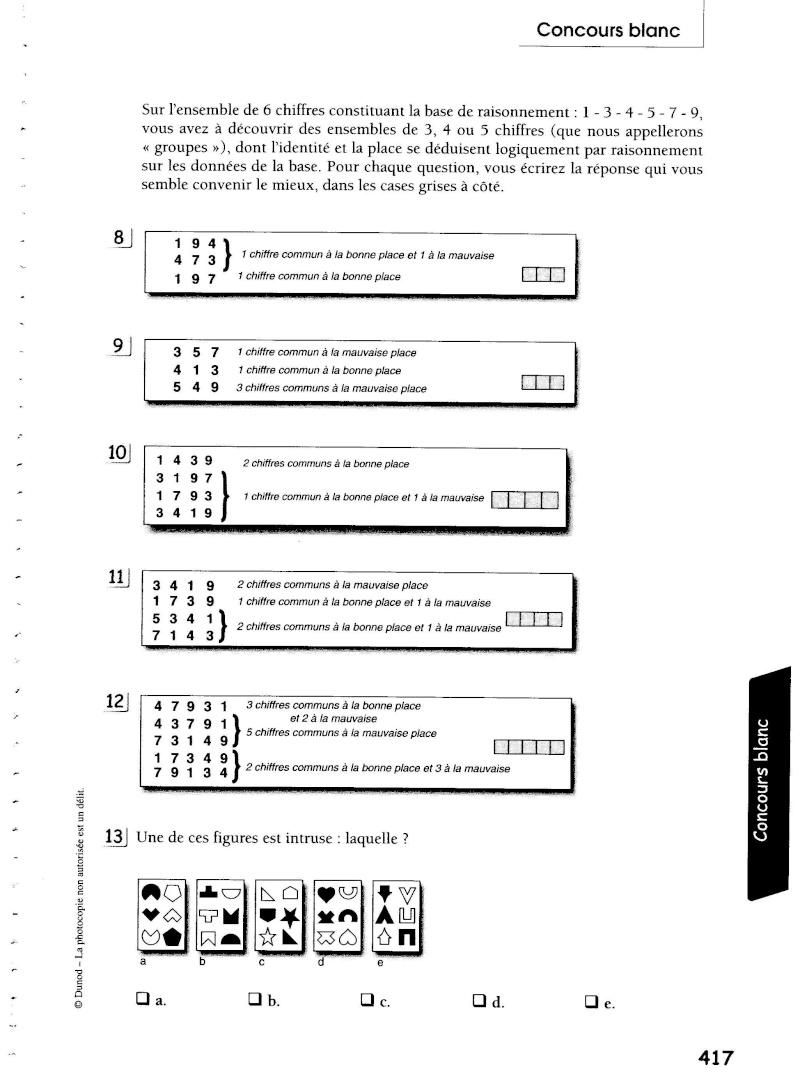 exemple de test afpa niveau 4
