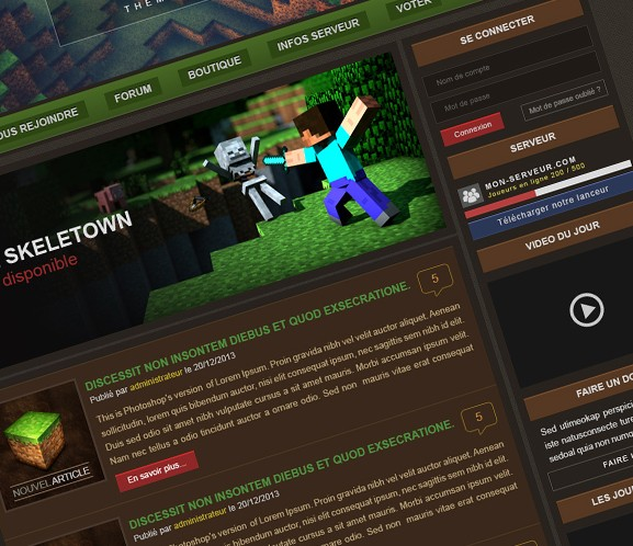 Minecraft Wordpress theme - Art Shops - Shops and Requests - Show ...