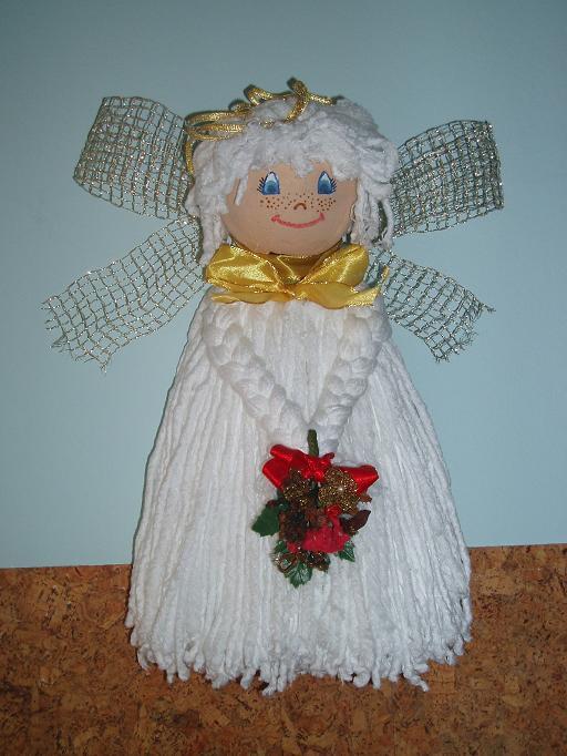 Manualidades con angeles de navidad - Imagui