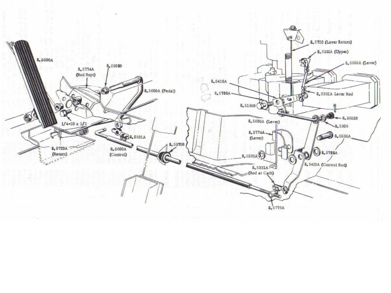 gas pedal  broken  accelerator linkage  missing