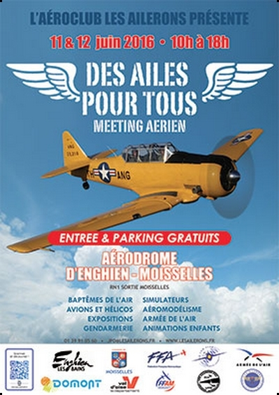 Des Ailes Pour Tous 2016, annuler Meeting Aérien d'Enghien-Moisselles 2016, Meeting Aerien 2016,Airshow 2016, French Airshow 2016