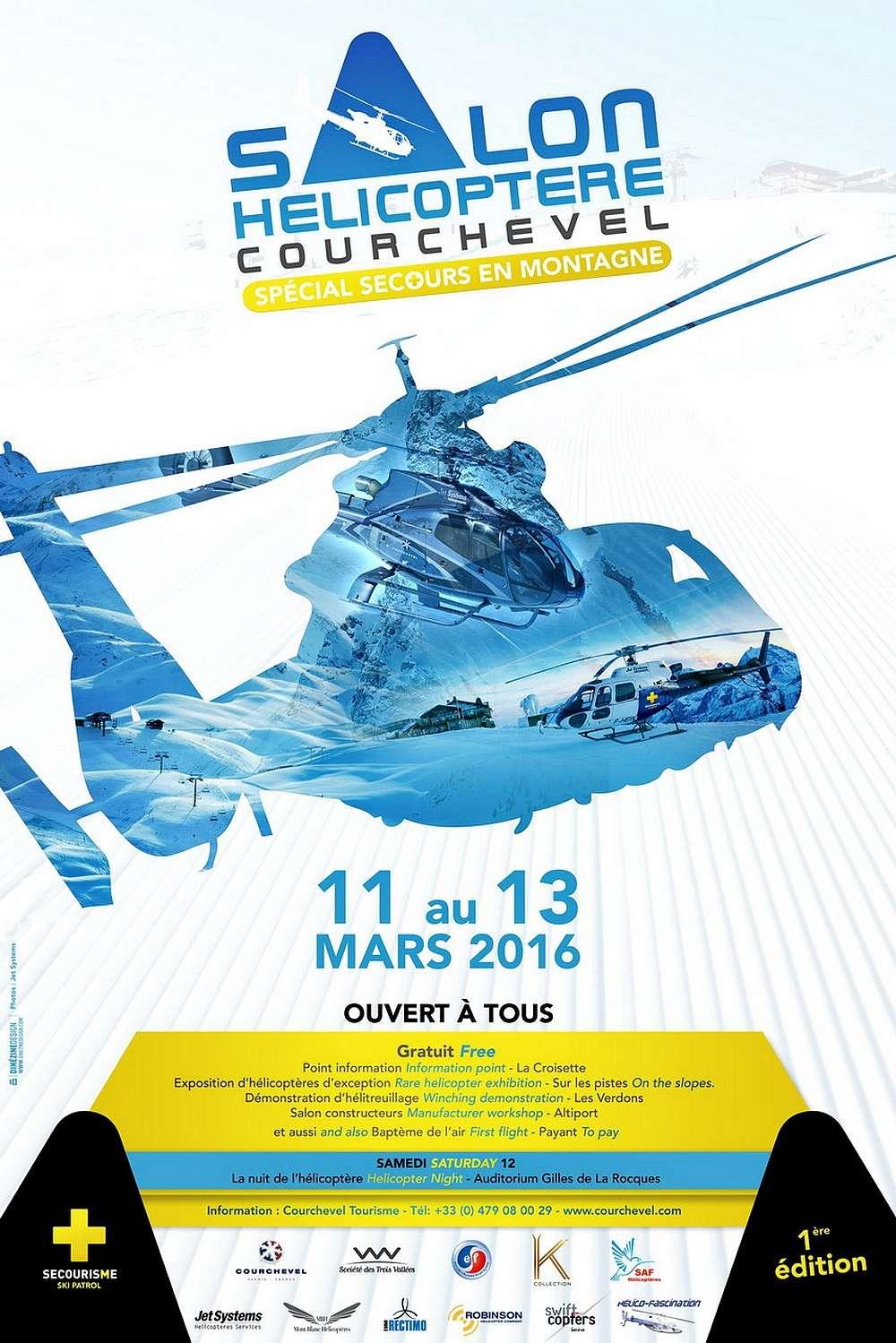 Salon Hélicopter Courchevel 2016,SALON DE L'HÉLICOPTÈRE, 1ère édition du Salon de l'hélicoptère, French Airshow 2016