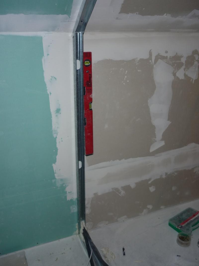 installer les rails à placo et plaques de platres sur http://patouval.free.fr