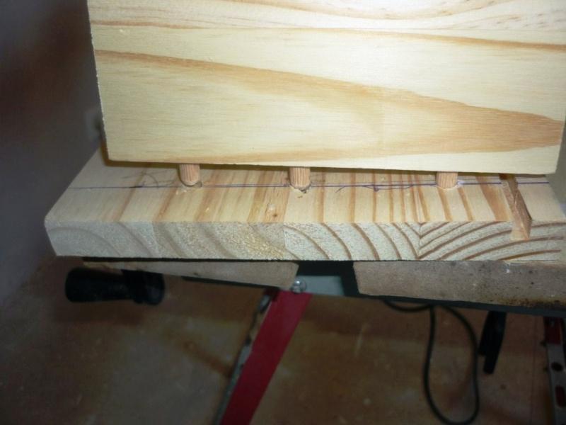 assemblage tiroirs bois avec tourillons