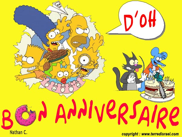 Joyeux anniversaire titours - Simpson anniversaire ...