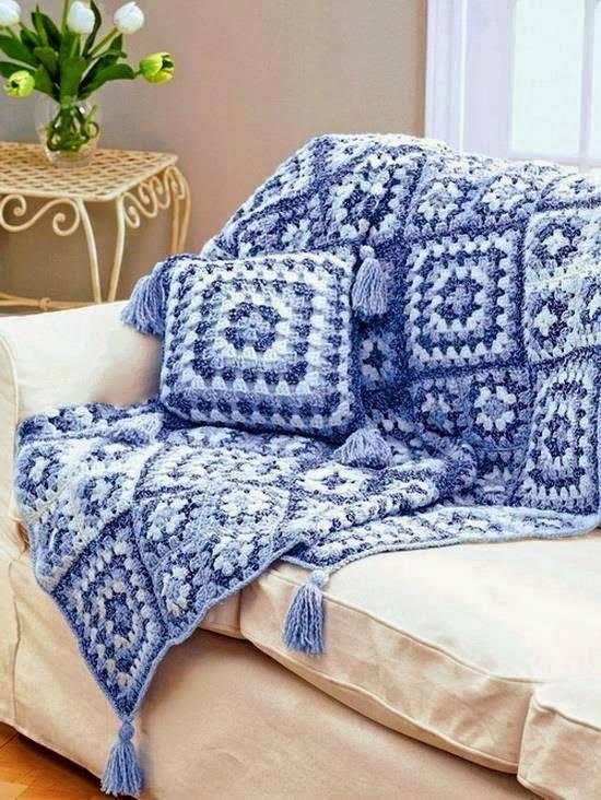 au bout des doigts d 39 isis couverture granny cama eu de bleu. Black Bedroom Furniture Sets. Home Design Ideas