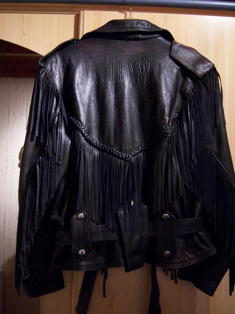 Veste cuir femme frange