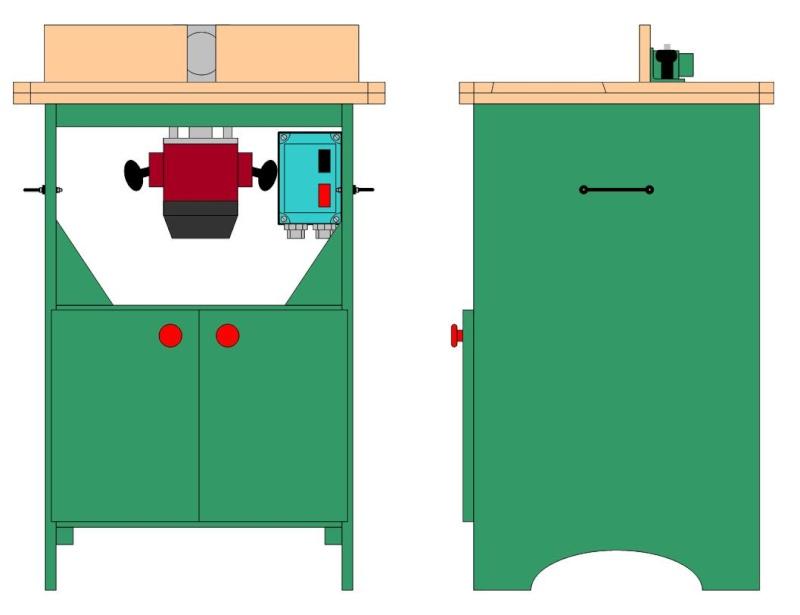 table defonceuse avec rangement. Black Bedroom Furniture Sets. Home Design Ideas