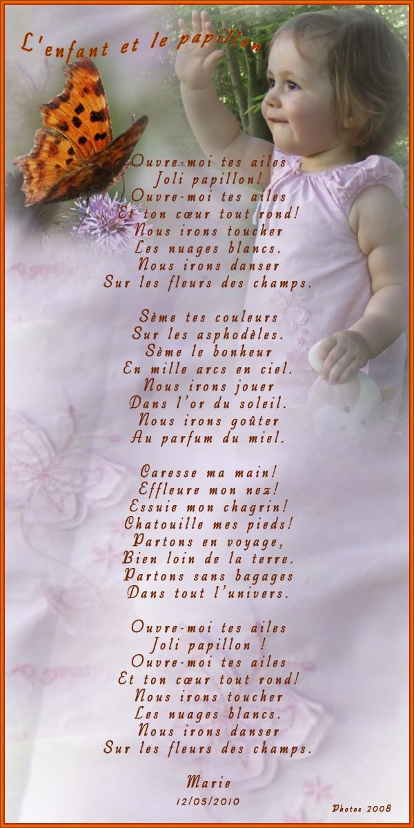 Poème: l'enfant et le papillon