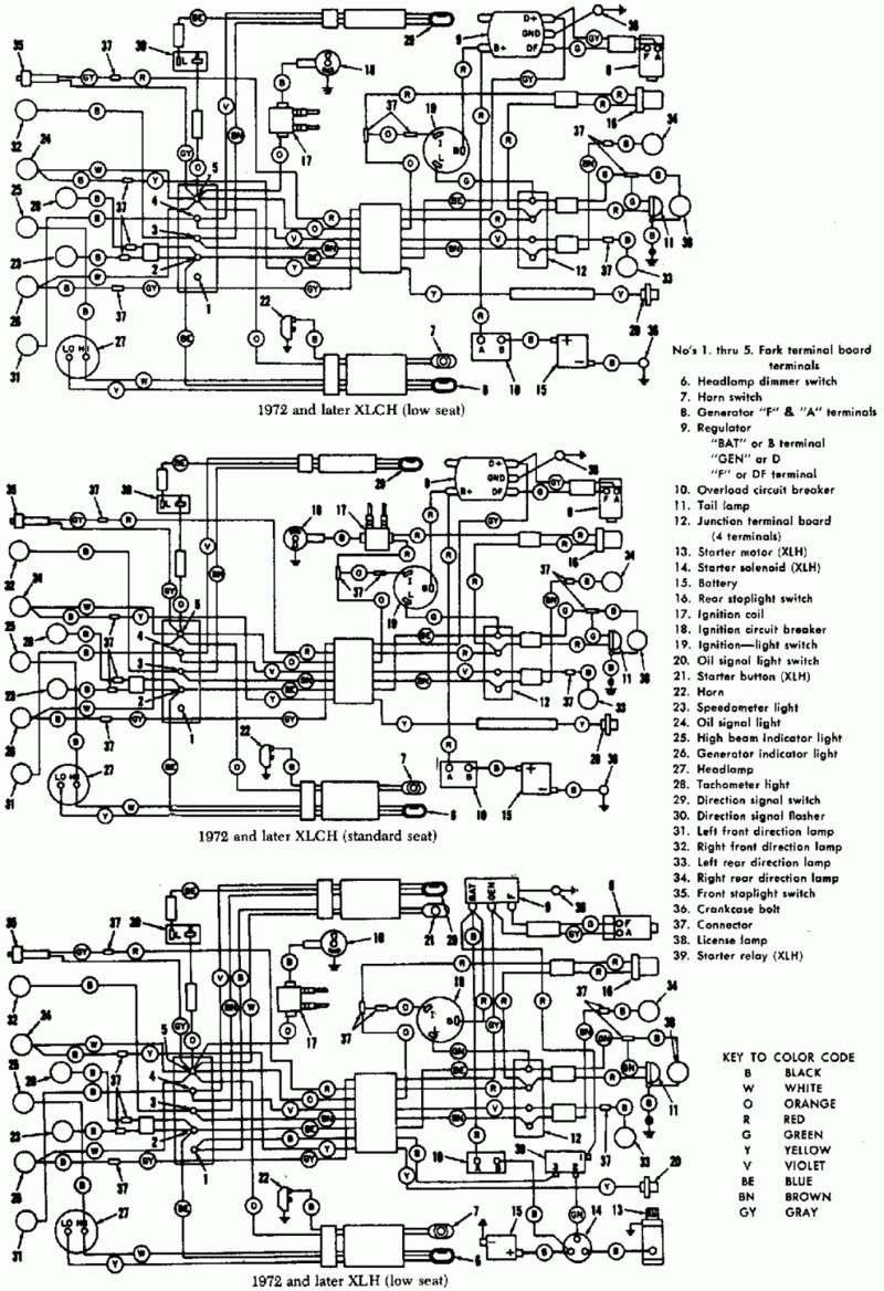 Schema Cablage For A Harley Davidson Auto Electrical Wiring Diagram Fl Electrique