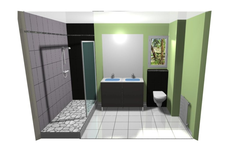 Salle de bain page 2 for Salle de bain vert kaki