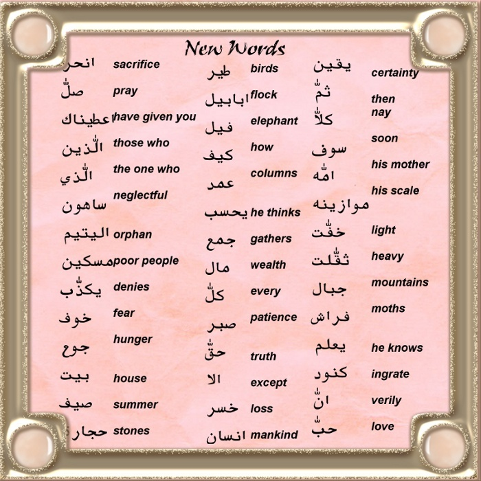 Images of Simple Arabic Words - #rock-cafe
