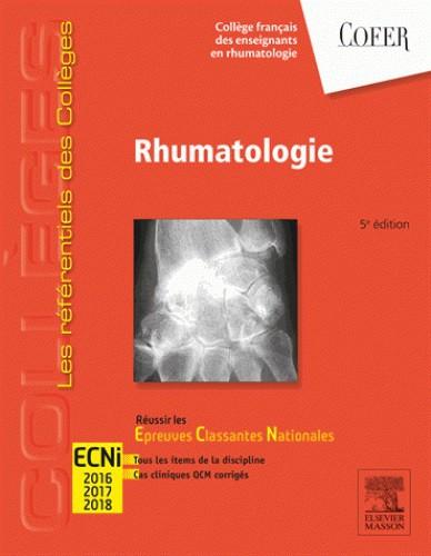 Référentiels Collèges COFER Rhumatologie-5 ème édition