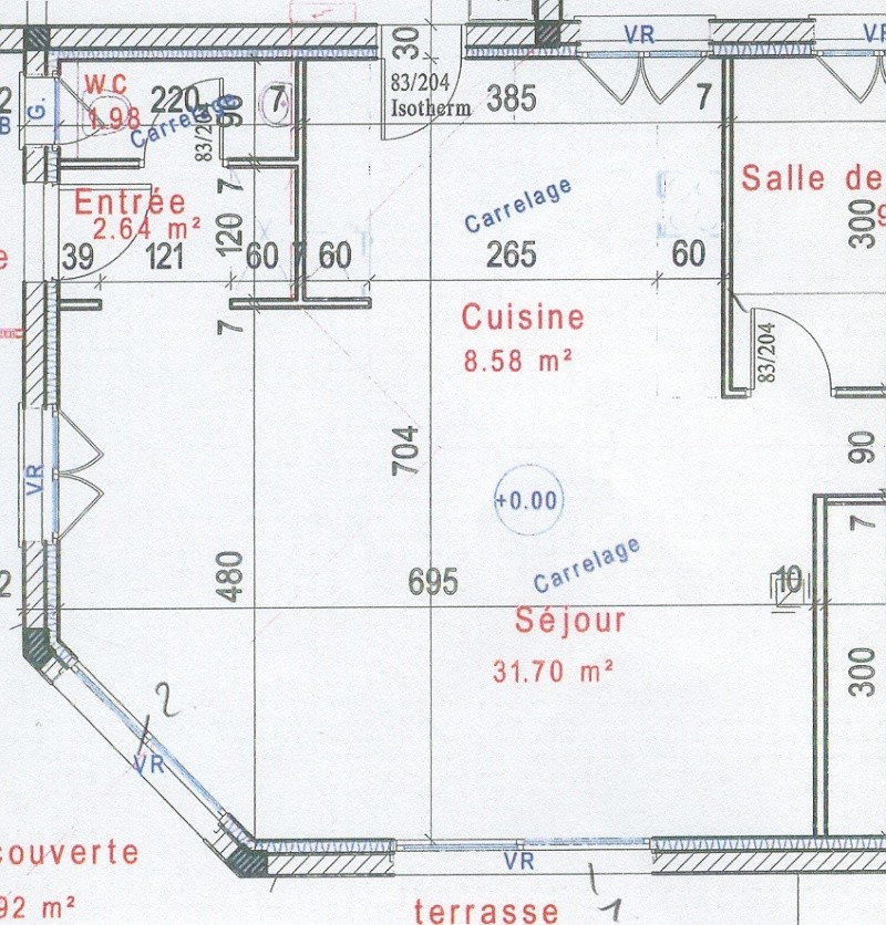 Couleurs pour s jour cuisine ouverte maison neuve for Plan maison cuisine ouverte