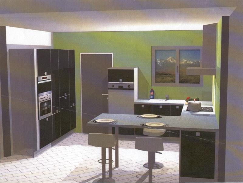 Couleurs pour s jour cuisine ouverte maison neuve for Model de cuisine ouverte sur sejour