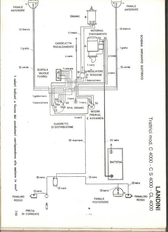 Schema Elettrico Trattore : Impianto elettrico trattore landini inizio anni
