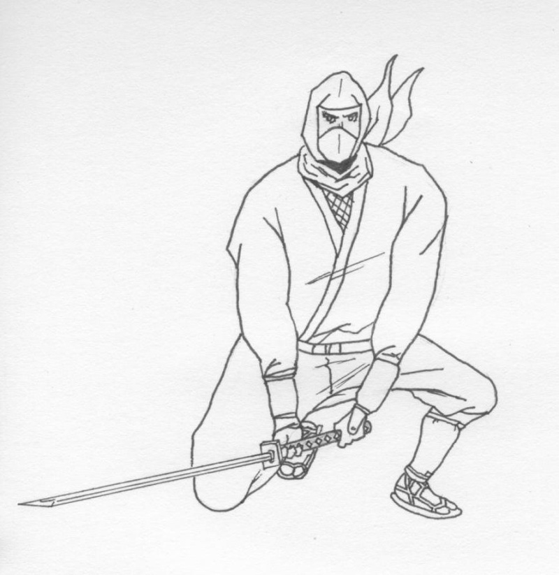 Les dessins de tenshi - Dessiner un ninja ...