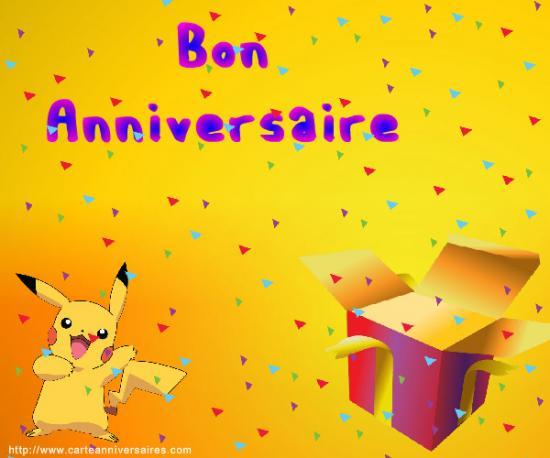 Joyeux anniversaire mewchu - Imprimer une carte pokemon ...