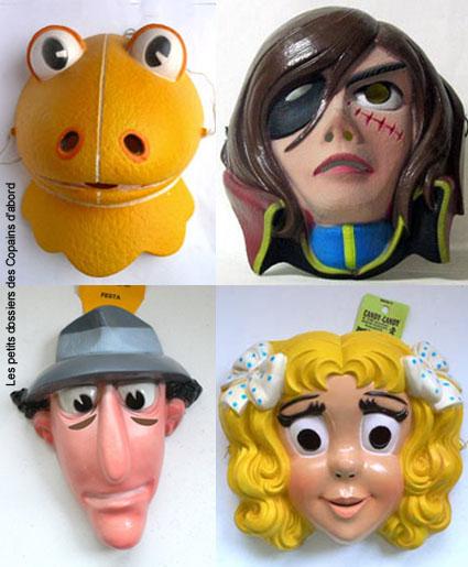 Heros Annee 70 les masques de carnaval de nos héros préférés par nath-didile -