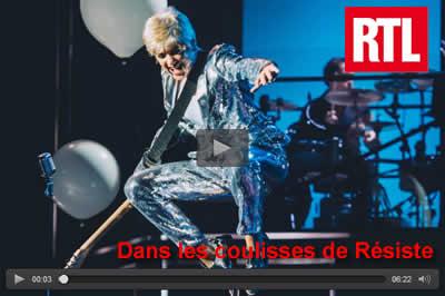 Reportage RTL dans les coulisses de la comédie musicale Résiste