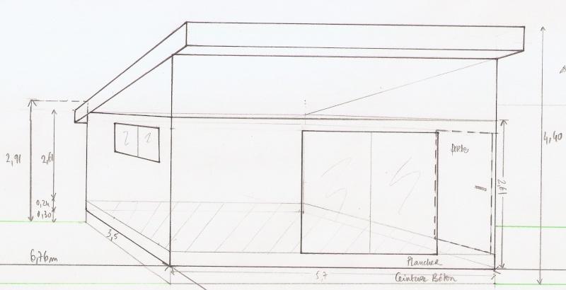 ossature bois pour toit une pente. Black Bedroom Furniture Sets. Home Design Ideas
