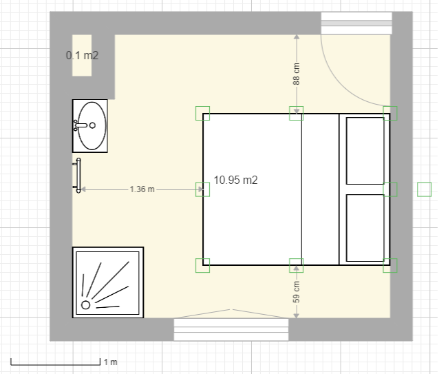 am nager une salle d 39 eau dans une petite chambre. Black Bedroom Furniture Sets. Home Design Ideas