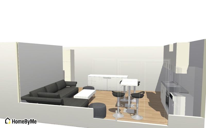 Re: Conseils aménagement petit salon avec salon cuisine américaine
