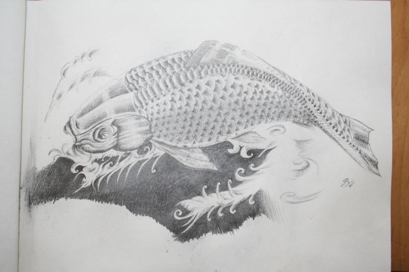 Carpe koi au crayon paikann for Carpe koi truffaut