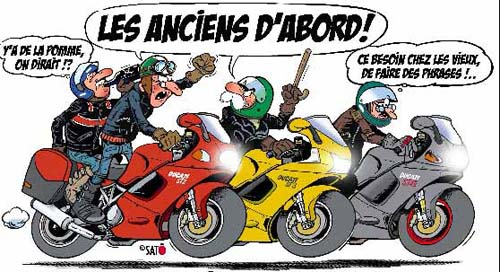 Humour en vrac page 6 - Dessin humour moto ...