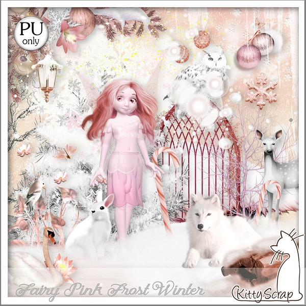 Fairy pink frost winter de Kittyscrap dans Novembre kittys14
