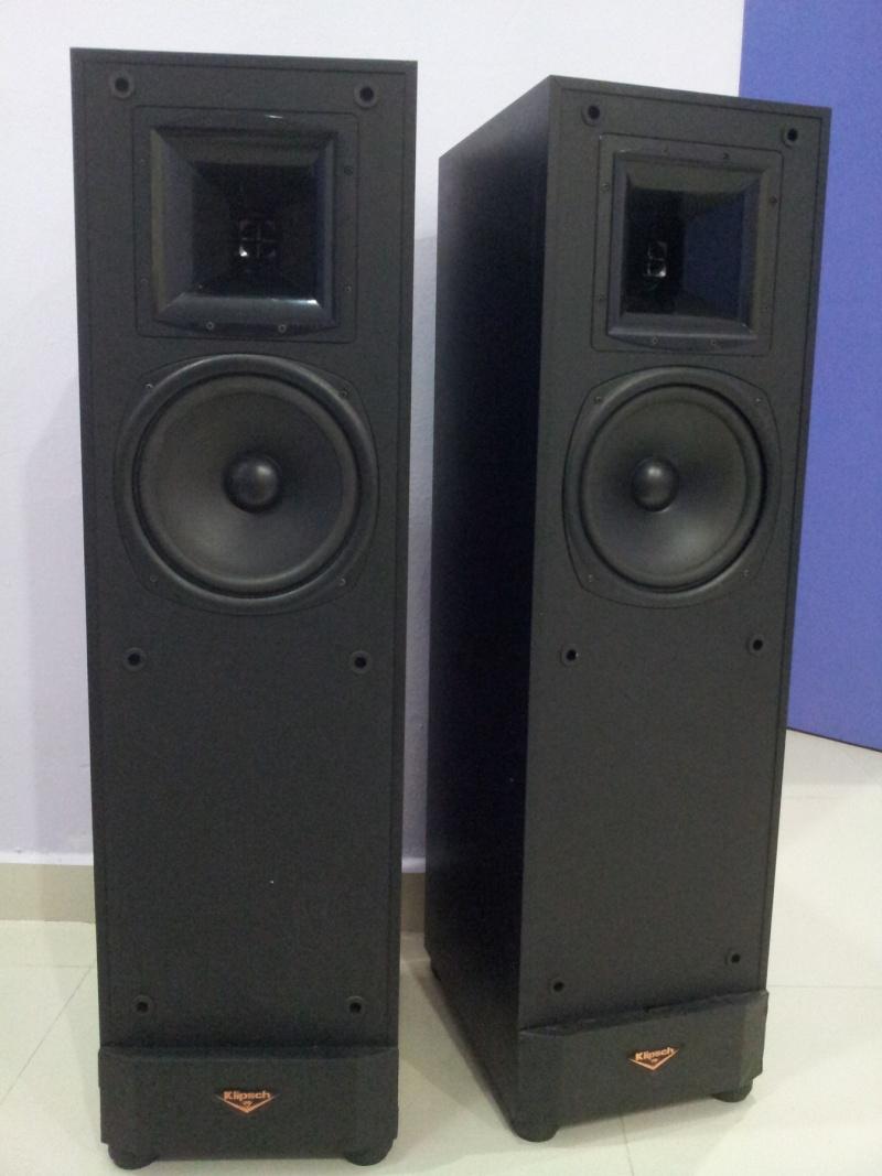 klipsch ksf 8 5 floorstanding speakers with tractrix horn tweeter sold. Black Bedroom Furniture Sets. Home Design Ideas