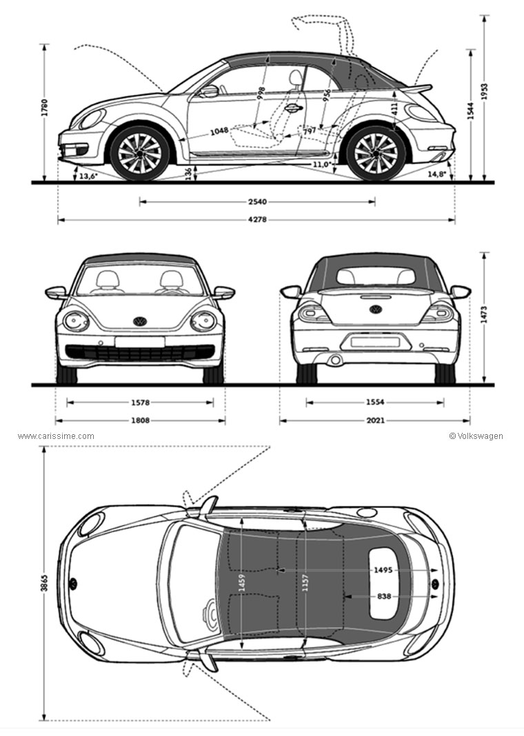 dimension coccinelle cabriolet forum new beetle coccinelle. Black Bedroom Furniture Sets. Home Design Ideas