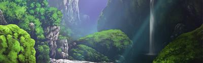 Bord de la cascade
