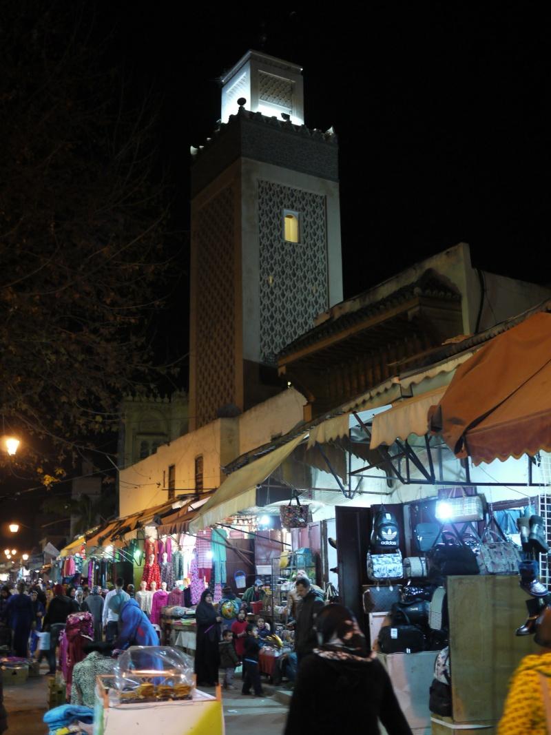 Photos de nuit à Fès Jdid (Maroc)