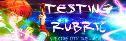 Testing Rubric