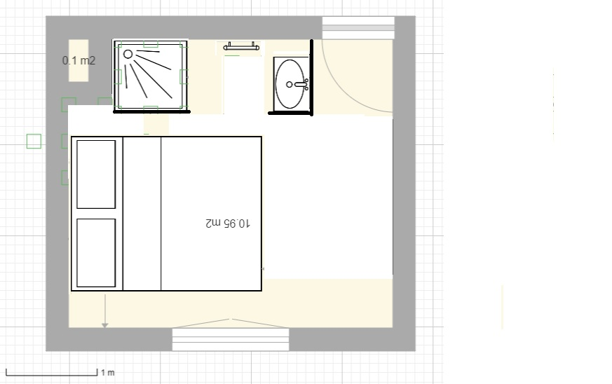 Am nager une salle d 39 eau dans une petite chambre - Salle d eau dans chambre ...