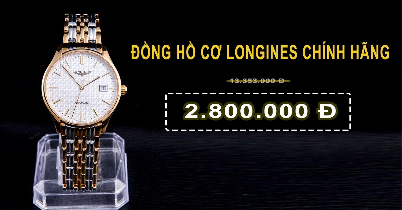 đồng hồ cơ longines automatic giá rẻ