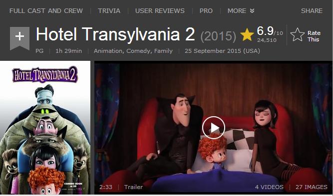 حصريا فيلم الاينمي والكوميدي المنتظر بشدة Hotel Transylvania 2.2015.720p BluRay مدبلج