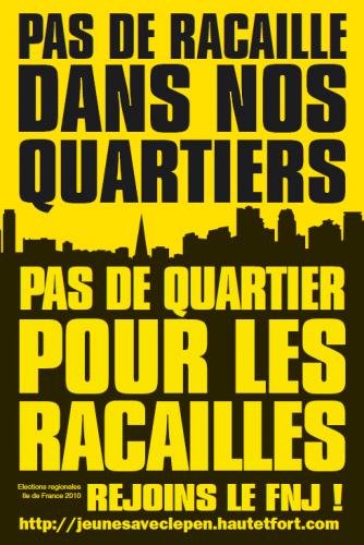 Autocollant du FNJ pour les élections régionales 2010 en Ile de France :