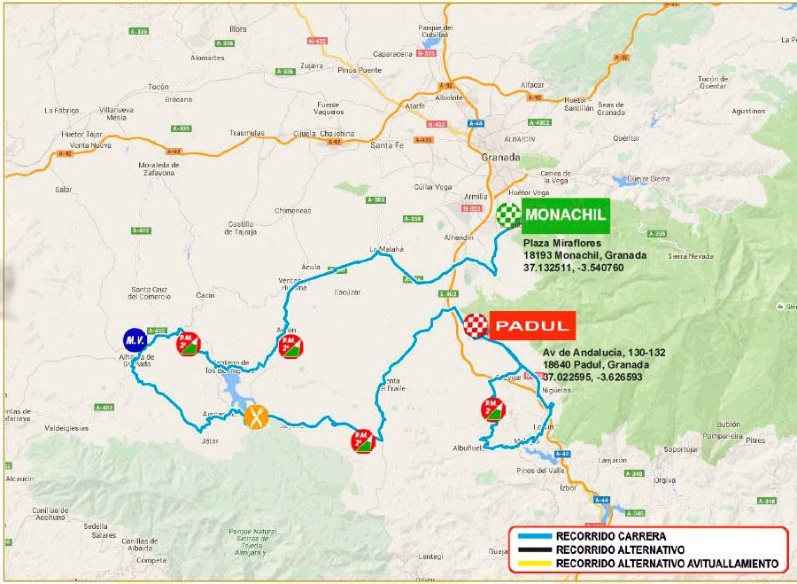 planimetria 2016 » 62nd Vuelta a Andalucia Ruta Ciclista Del Sol (2.1) - 3a tappa » Monachil › Padul (157.9 km)