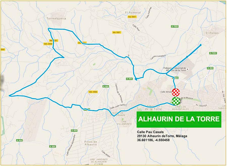 planimetria 2016 » 62nd Vuelta a Andalucia Ruta Ciclista Del Sol (2.1) - 4a tappa » Alhaurín de la Torre › Alhaurín de la Torre (21 km)