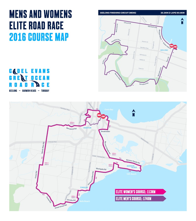 planimetria 2016 » 1st Cadel Evans Great Ocean Women Road Race (WE) (1.2) - Geelong › Geelong (113.3 km)