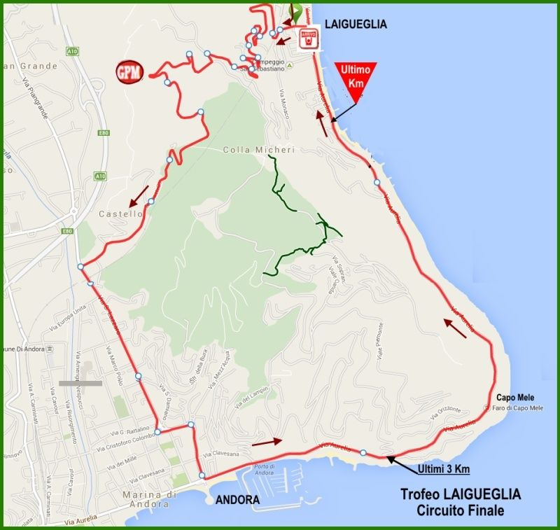 planimetria Circuito Finale 2016 » 53rd Trofeo Laigueglia (1.HC) » Laigueglia › Laigueglia (192.5 km)