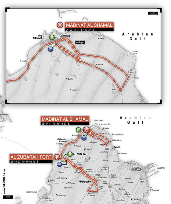 planimetria 2016 » 15th Tour of Qatar (2.HC) - 4a tappa » Al Zubarah Fort › Madinat Al Shamal (189 km)