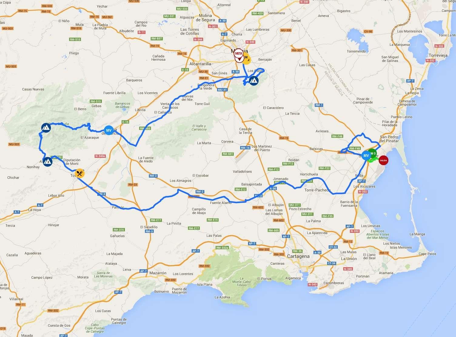 planimetria 2016 » Vuelta Ciclista a la Region de Murcia Costa Calida - San Javier › Murcia (199.3 km)